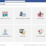 Criar Página do Facebook