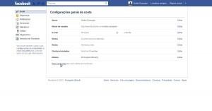Gerando cópia dos dados do Facebook 1
