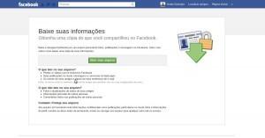 Gerando cópia dos dados do Facebook 2