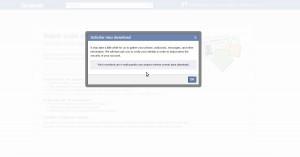 Gerando cópia dos dados do Facebook 3